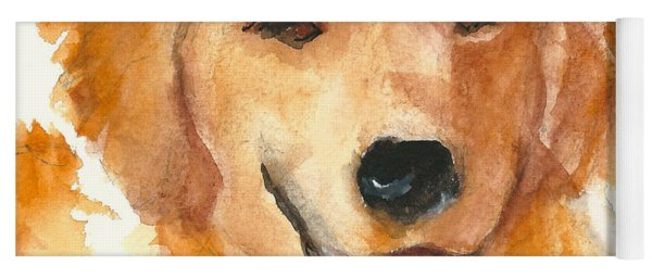 Golden Retriever Watercolor Painting By Kmcelwaine Yoga Mat