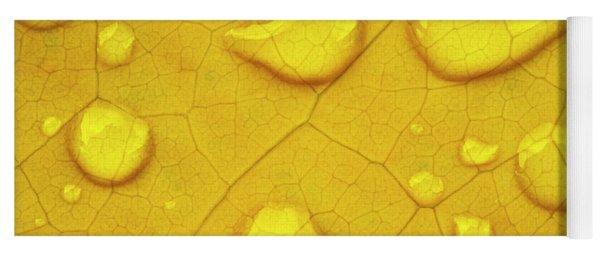 Golden Leaf Yoga Mat