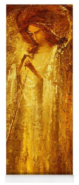 Golden Light Of Angel Yoga Mat
