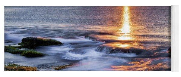 Golden Light Sunset, Rockport  Ma. Yoga Mat