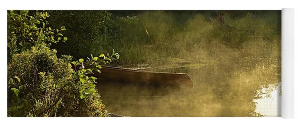 Golden Mist At Knife Lake Yoga Mat