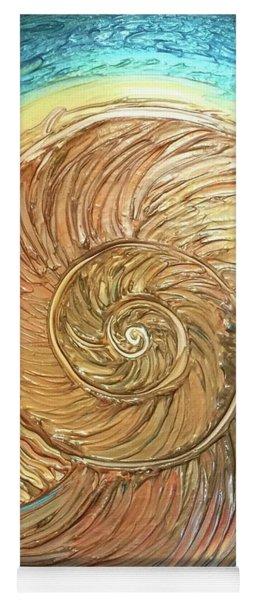 Golden Nautilus Yoga Mat