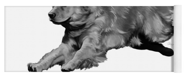 Golden Retriever Yoga Mat
