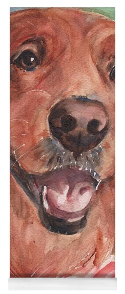 Golden Retriever Dog In Watercolori Yoga Mat