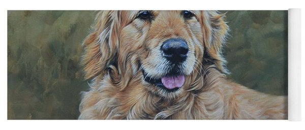 Golden Retriever Portrait Yoga Mat