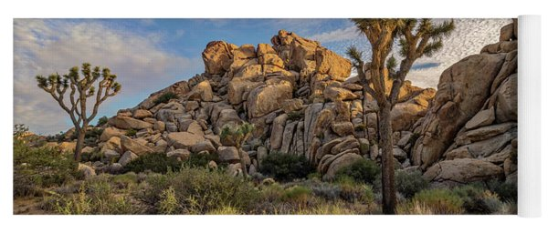 Golden Rocks Yoga Mat