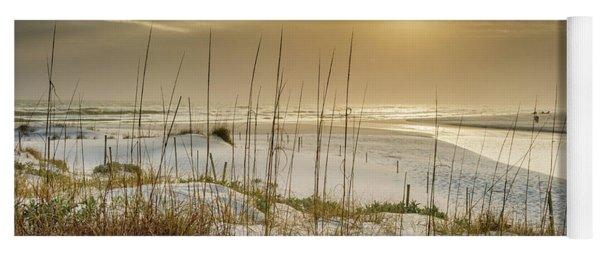 Golden Seagrove Beach Sunset Yoga Mat