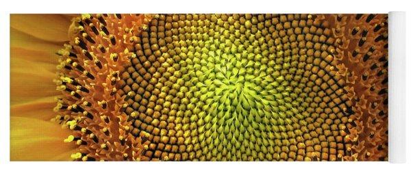 Golden Spiral Seed Arrangement Yoga Mat