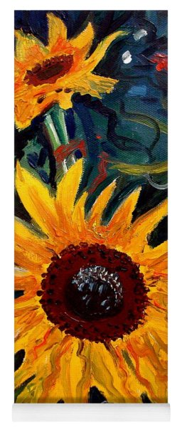 Golden Sunflower Burst Yoga Mat