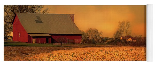 Golden Sunflower Harvest Yoga Mat