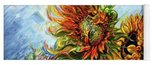 Golden Sunflowers - Harsh Malik Yoga Mat