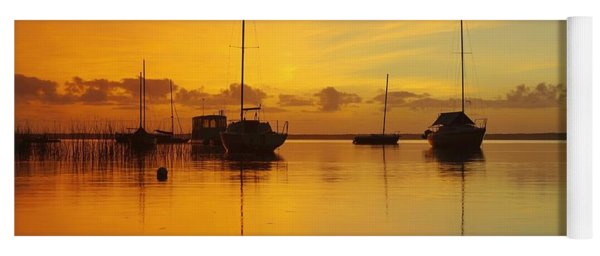 Golden Sunrise At Boreen Point Yoga Mat