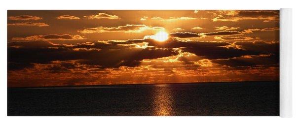 Golden Sunrise Yoga Mat