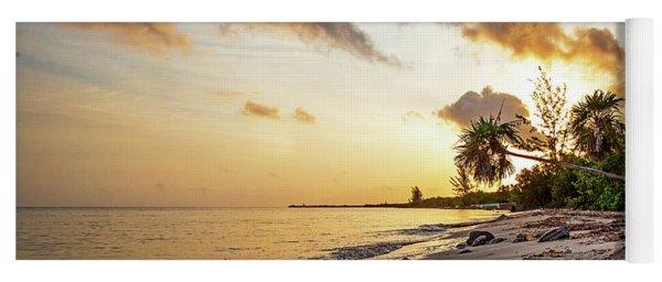 Golden Sunrise On Cozumel Beach Yoga Mat