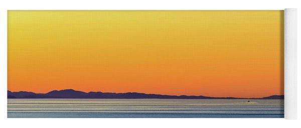 Golden Sunset Series I Yoga Mat