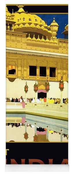 Golden Temple Amritsar India - Vintage Travel Advertising Poster Yoga Mat