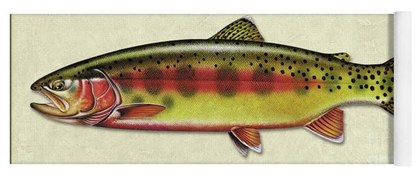 Golden Trout Id Yoga Mat