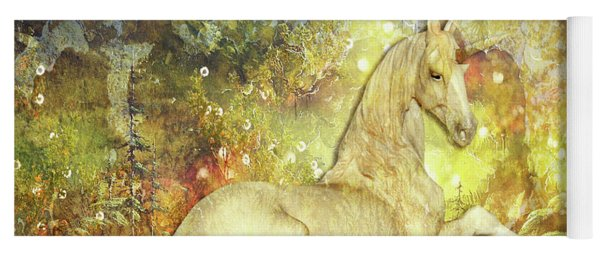 Golden Unicorn Dreams Yoga Mat