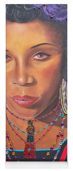 Gracious Golden Wodaabe Girl           From The Attitude Girls  Yoga Mat