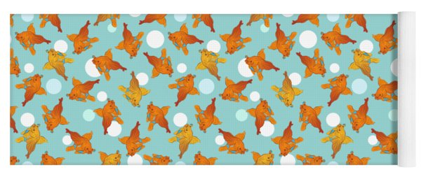 Goldfish And Bubbles Pattern Yoga Mat