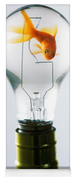 Goldfish In Light Bulb  Yoga Mat
