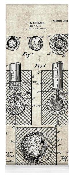 Golf Ball Patent Drawing Vintage 2 Yoga Mat