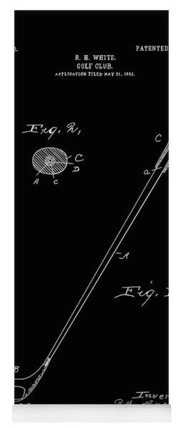 Golf Club Patent Drawing Black 3 Yoga Mat