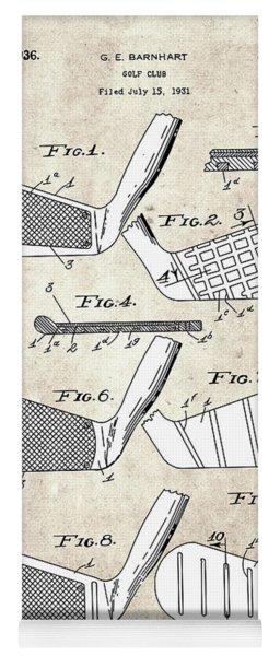 Golf Club Patent Drawing Vintage 5 Yoga Mat