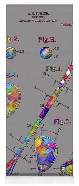 Golf Club Patent Drawing Watercolor 2 Yoga Mat