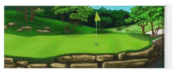 Golf Green Hole 16 Yoga Mat