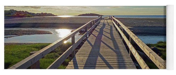 Good Harbor Beach Footbridge Sunny Shadow Yoga Mat