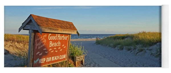 Good Harbor Sign At Sunset Yoga Mat