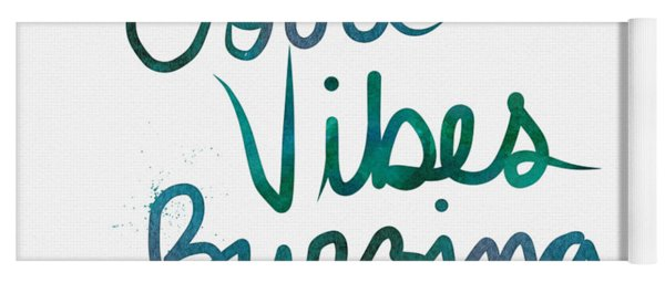 Good Vibes Buzzing- Art By Linda Woods Yoga Mat