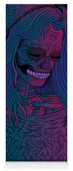 Good Vibes Skelegirl Yoga Mat
