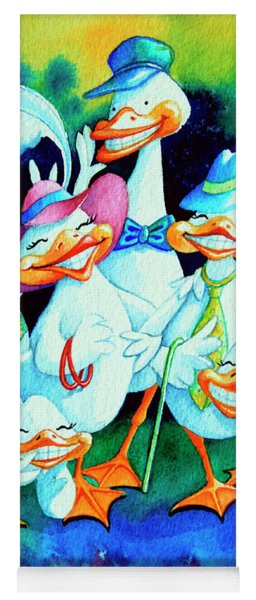 Goofy Gaggle Of Grinning Geese Yoga Mat