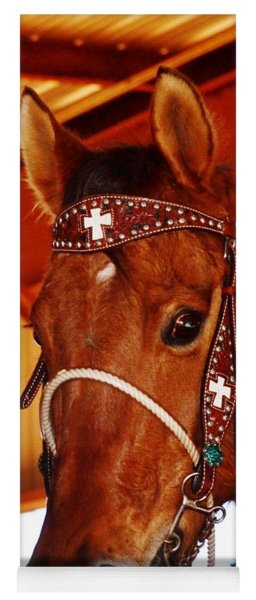 Gorgeous Horse And Bridle Yoga Mat