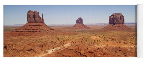 Gorgeous Monument Valley Panoramic View Yoga Mat