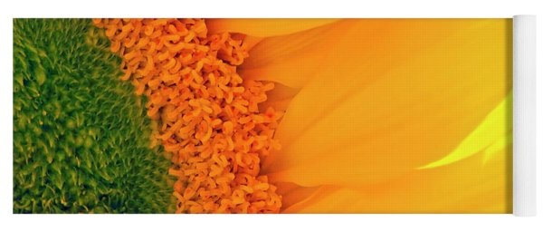 Gorgeous Sunflower Macro Yoga Mat