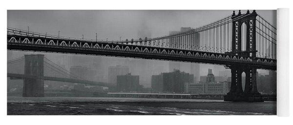 Manhattan Bridge In A Storm Yoga Mat