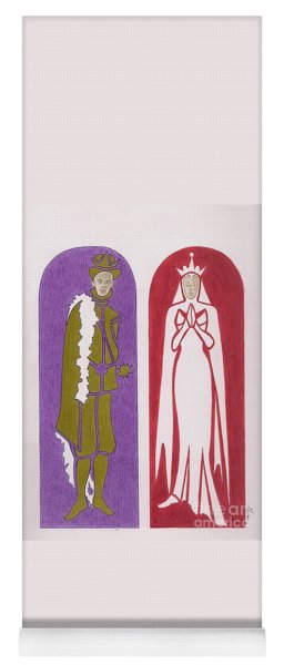 Gothic King And Queen Yoga Mat
