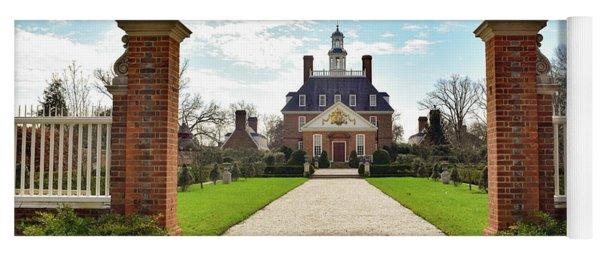 Governor's Palace In Williamsburg, Virginia Yoga Mat