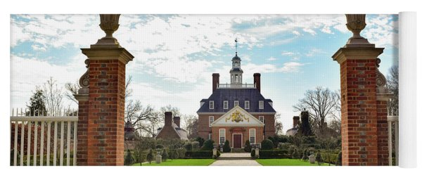 Yoga Mat featuring the photograph Governor's Palace In Williamsburg, Virginia by Nicole Lloyd