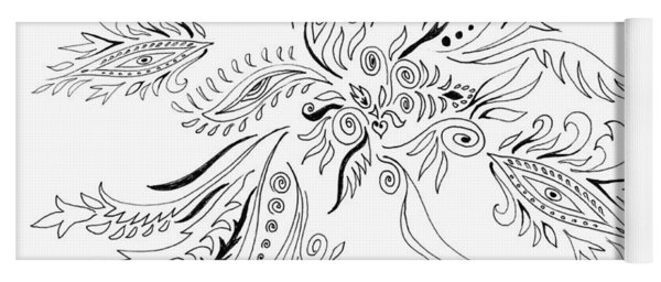 Graceful Doodles I Yoga Mat