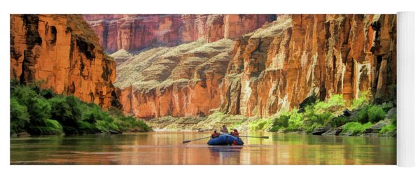Grand Canyon Colorado River Rafting Yoga Mat