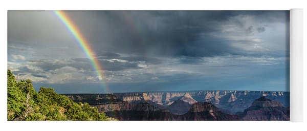 Grand Canyon Stormy Double Rainbow Yoga Mat