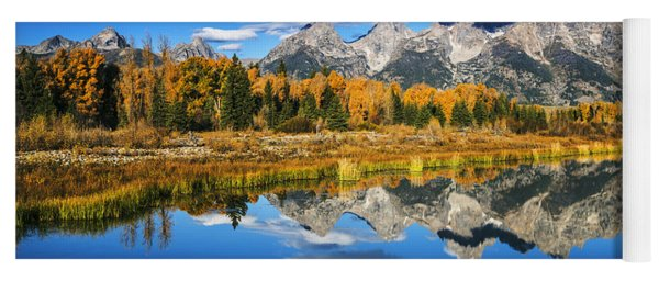 Grand Teton Autumn Beauty Yoga Mat