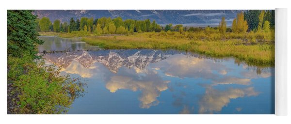 Grand Teton Morning Reflection Yoga Mat