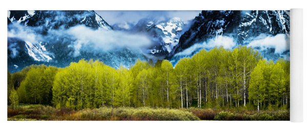 Grand Teton National Park Yoga Mat