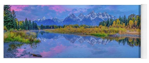 Grand Teton Sunrise Panoramic Yoga Mat