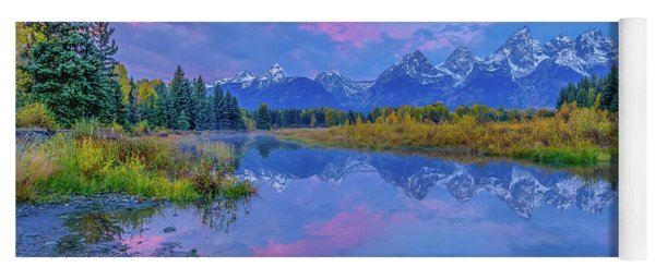 Grand Teton Sunrise Yoga Mat